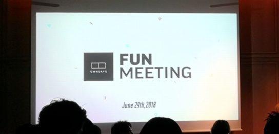オンデーズファンミーティングのスクリーン