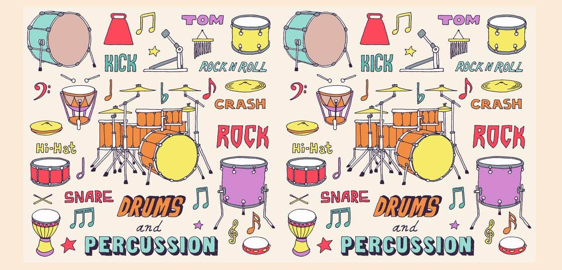 色々な打楽器のイラスト