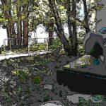 大手町の森にあるアメリカ同時多発テロ犠牲者の慰霊碑