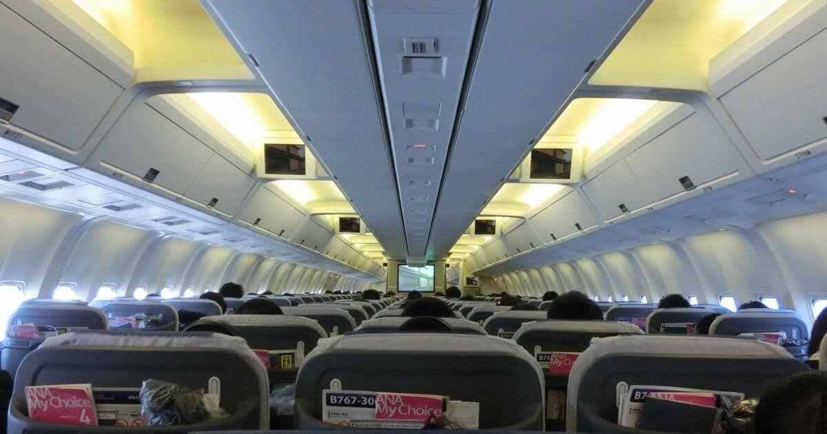 飛行機の客室