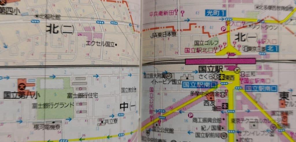 富士銀行国立寮の地図
