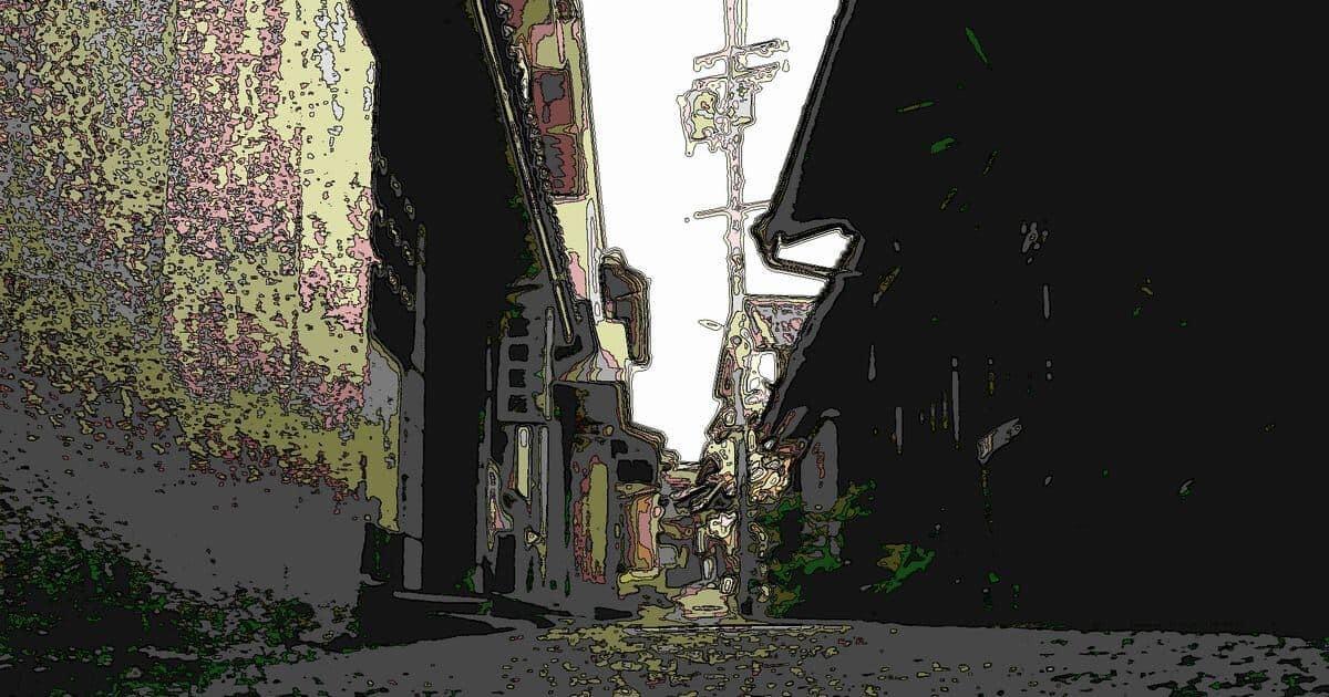 日本のレトロな路地