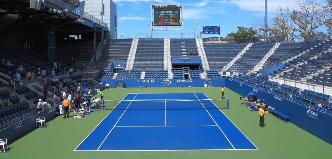 全米オープンテニス・グランドスタンドコート