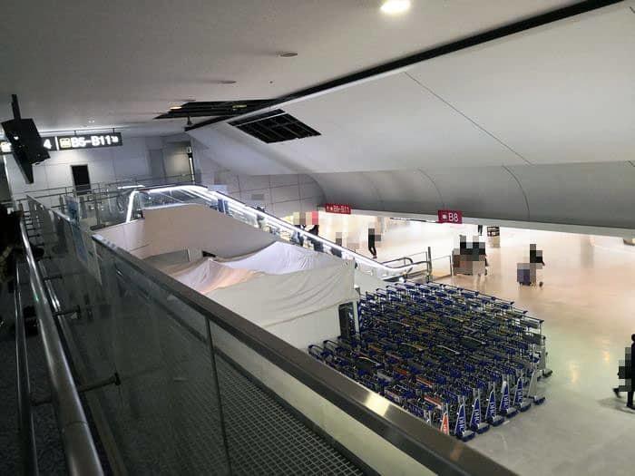 成田空港のイミグレーションを抜けた場所