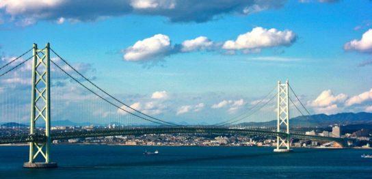 明石海峡大橋と明石市