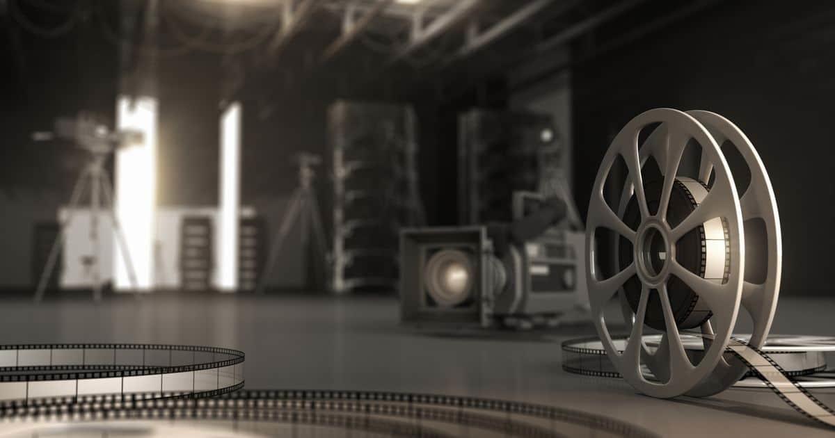 映画のリールとテープ