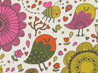 鳥や蜂のイラスト