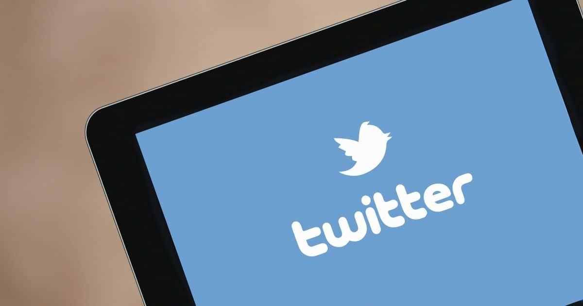 タブレット画面のTwitterロゴ