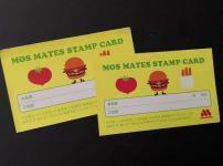 モスバーガーのスタンプカード