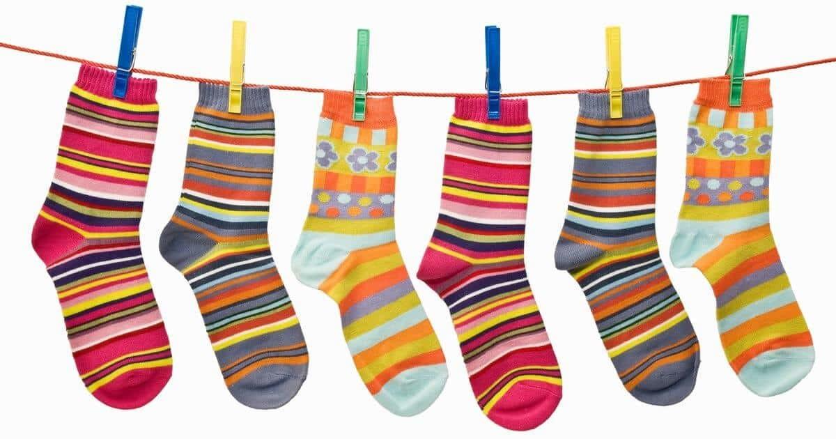ソックスの洗濯物