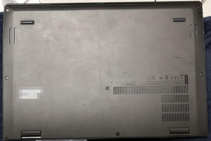 ThinkPad X1 Yogaの裏側