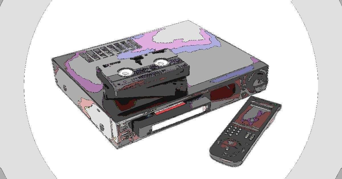 VHSビデオカセットレコーダー