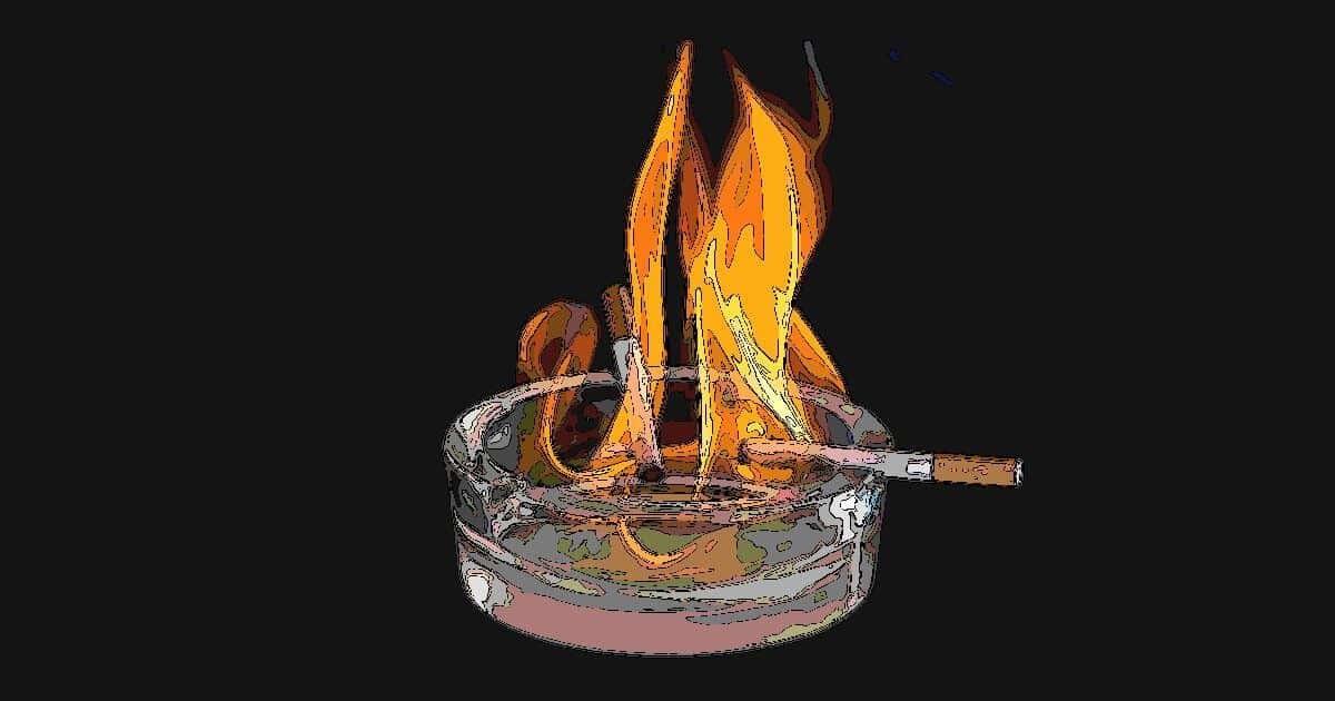 喫煙で炎上